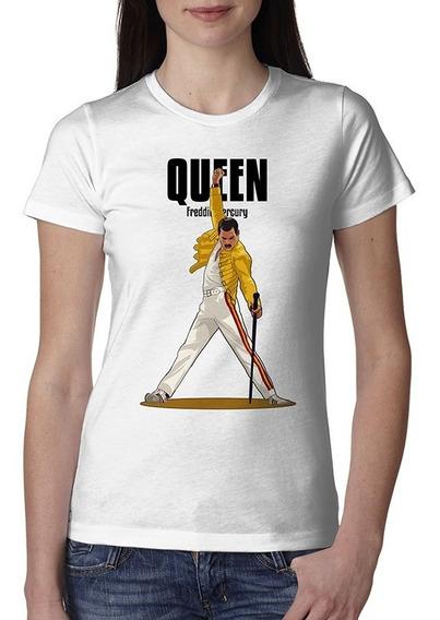 Playera Queen Freddie Mercury Mujer