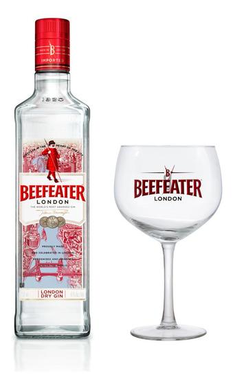 Kit Gin Beefeater Dry 750ml + Taça De Vidro