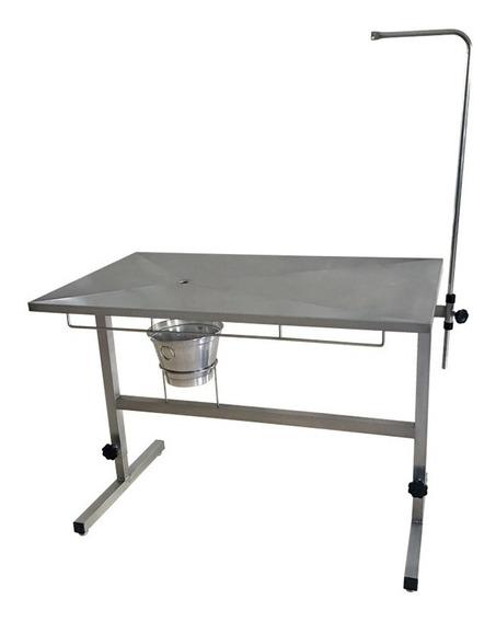Mesa Cirúrgica Veterinário Inox Regulavel