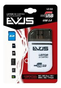 Leitor De Cartão Externo Evus Lc-02 Sd/mini/sd/ms/t-flash