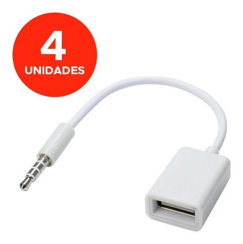 Cable Mini Plug Auxiliar Audio 3.5mm Usb Hembra Mp3 Pendrive