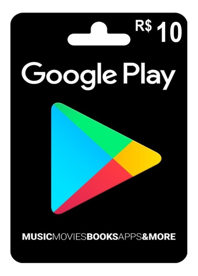 Cartão Google Play Store Gift Card 10 Reais Android Brasil