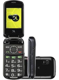Celular Dl Yc-130 Dual Chip Tela 2,4 Rádio Fm Câmera