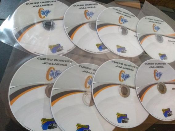 Curso Ourives Fabricação De Jóias 8 Dvds Originais