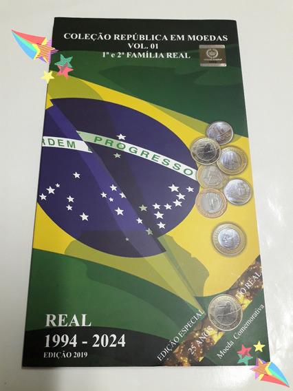 Álbum De Moedas Família Real Olimpíadas 1994 Á 2024 Promoção