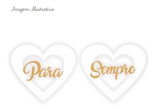 2 Placas Porta Aliança Noiva Casamento Personalizado Mdf