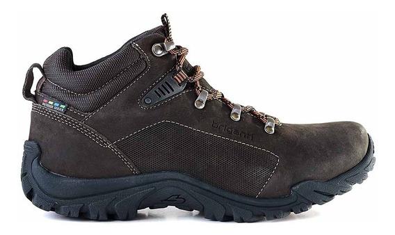 Bota Cuero Hombre Briganti Zapato Confort Cordon - Hcbo00960