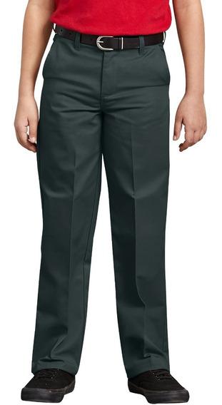 Pantalón Dickies Kp123 Escolar Niño Cintura Ajustable 8 A 20