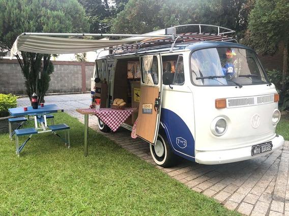 Vw Kombi T2 Antiga Camper Motorhome Corujinha Branca 1983
