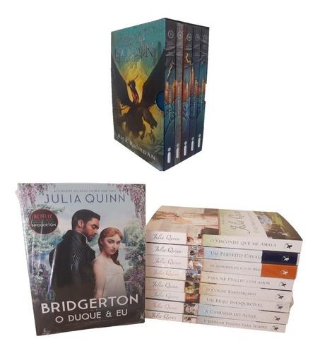 Box Percy Jackson + Kit Livros Série Os Bridgertons Envio Já