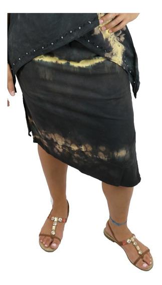 Saia Indiana Midi Sobreposta Roupa Moda Feminina