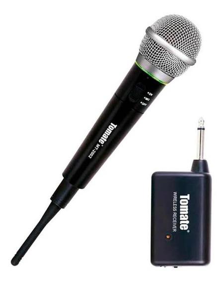 Microfone Profissional Sem Fio Até 10m Tomate - Mt-2002