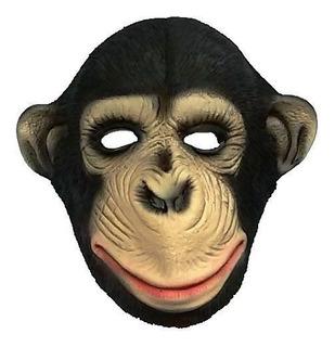 Máscara Chimpanze Macaco 100% Latex Cosplay Fantasia Spook