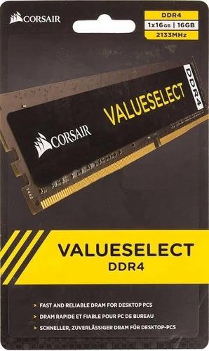 Imagem 1 de 2 de Memória Ddr4 Corsair 2133mhz 16gb 1x16gb Pc Desktop
