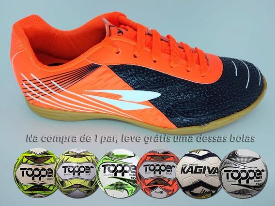 Tênis Futsal Dray Indoor Topfly + Bola De Brinde Em 12x