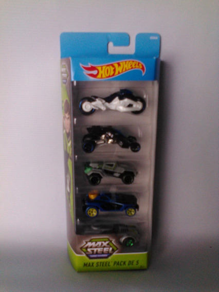 Set De Carritos Hot Wheels Serie Max Steel