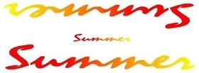 Faixa Saveiro Summer Vermelho / Amarelo