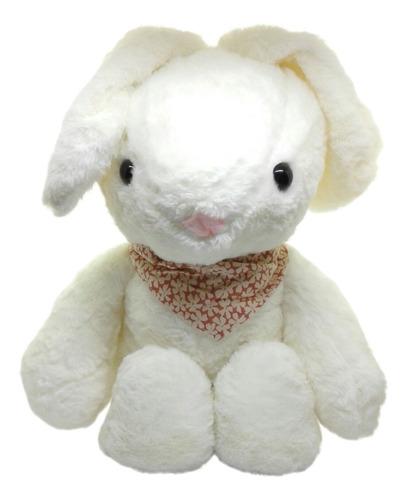 Peluche Conejo Grande: Con Pañoleta Y Sonido. 40 Cm