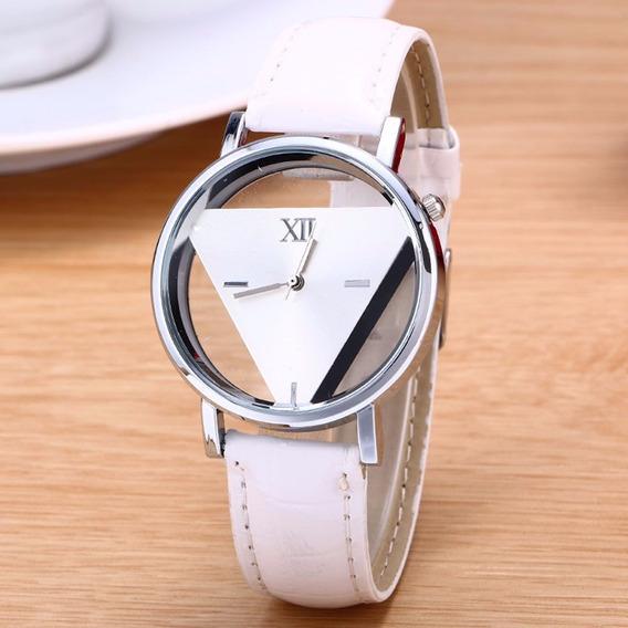 Relógio Feminino Luxo Pulseira De Couro