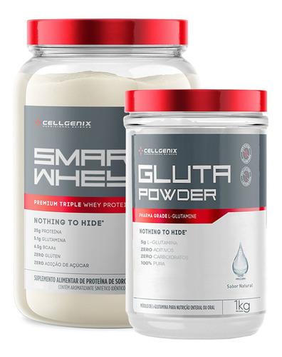 Kit Smart Whey Protein 900gr + Glutamina 1kg - Cellgenix