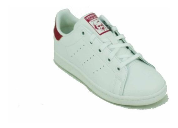 Zapatilla adidas Ori Stan Smith Blanco/rojo Niño Deporfan