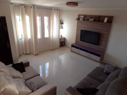 Imagem 1 de 12 de Sobrado Com 3 Dormitórios À Venda, 196 M² Por R$ 680.000,00 - Parque Novo Oratório - Santo André/sp - So0456
