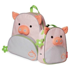 Mochila Lancheira Porca Escolar Infantil Skip Hop Porquinha