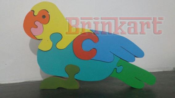 Brinquedo Educativo Madeira Quebra-cabeça Papagaio