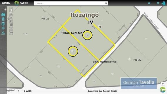 Buena Fracción Muy Bien Ubicada, 1728 M2 En Ituzaingo Norte.