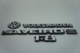 Kit Emblema Volkswagen Saveiro Vw Mala S 1.8 83 À 90 Brinde