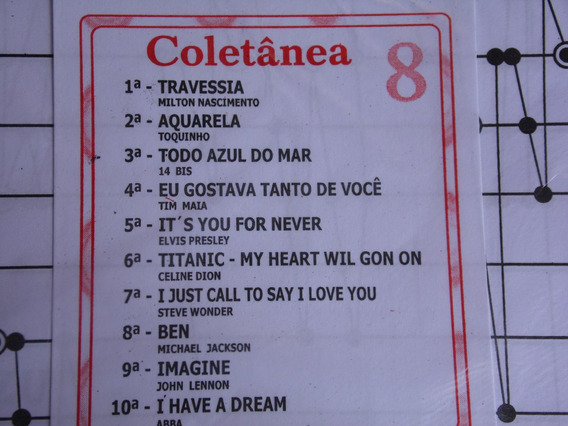 Partitura Coletânea Nº 08 Para Cítara Mini Harpa10 Partitura