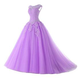 Vestido De Festas Baile Debutante 15 Anos Formatura Lilás