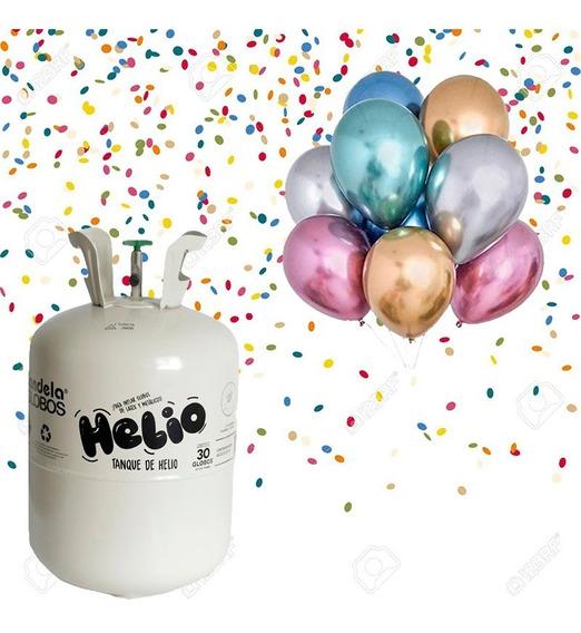 Gas Helio Tanque Garrafa Descartable 30 Globos De 9
