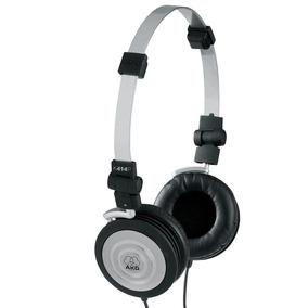Fone De Ouvido Akg K414 Novo K404 On Ear Preto Headphone