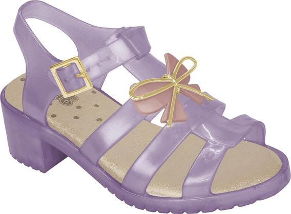 Sandália De Salto Plástico Feminino Infantil 626202