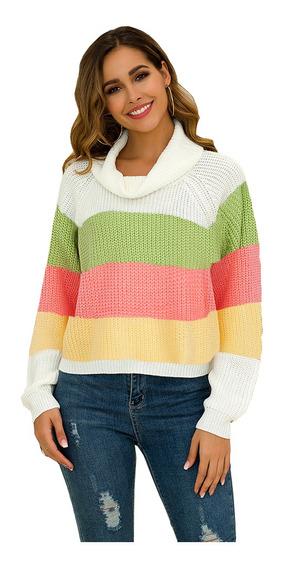 Suéter De Color Arcoíris Para Mujer