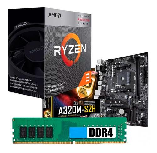 C142 Combo Actualizacion Amd Ryzen 3 3200g + A320 8gb Mexx