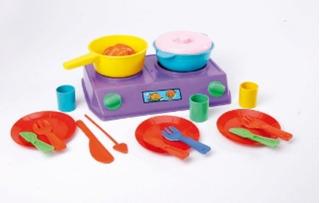 Bateria Cocina Cocinita Infantil New Plast 2 A 8 Años