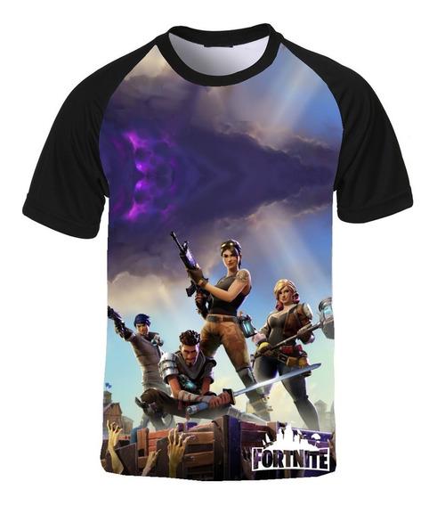 Kit 2 X Camisetas Fortnite E 1 X Raglan I Love Bts