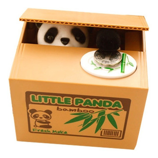 Alcancia Animal Panda Roba Monedas Regalo Juguete Casaliving