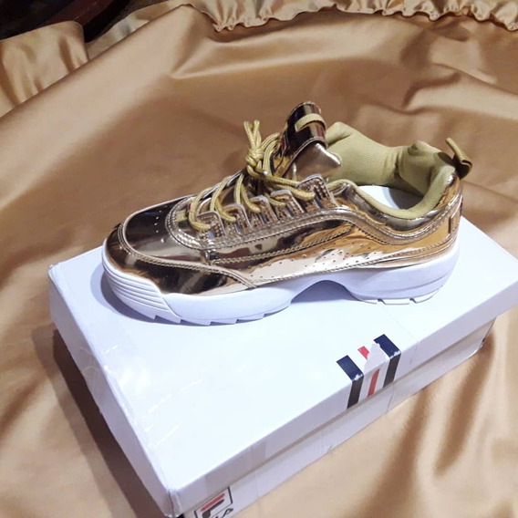 Zapatillas Fila Disruptor 2 Doradas!!!