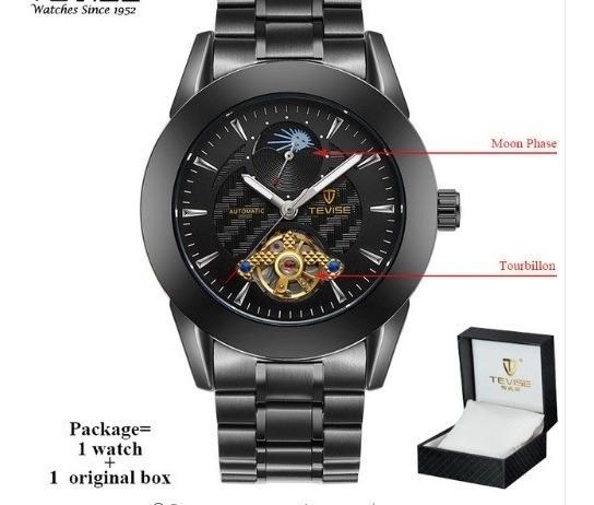 Relógio Unissex Tevise Automático Original Caixa Presente