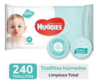 Toallas Humedas Huggies Limpieza Total One&done X48 Pack X 5