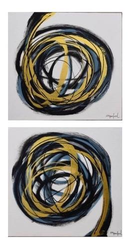 Imagen 1 de 4 de Cuadro Decorativo Diptico Espiral Këssa Muebles