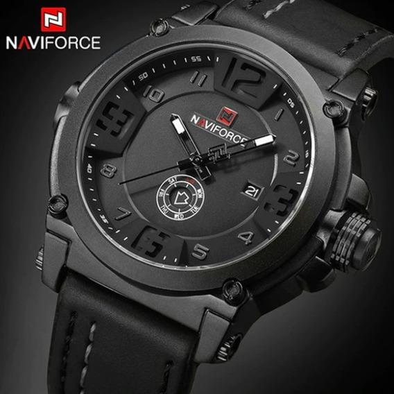 Relógio Masculino Naviforce Militar Esportivo Pulseira Couro