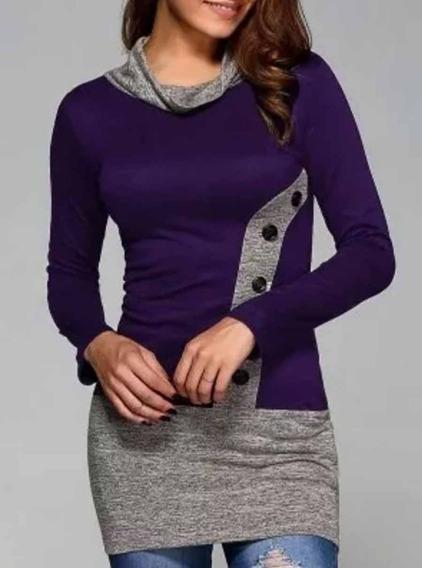 Blusa Sueter Malha Camisa Trico Feminino 377