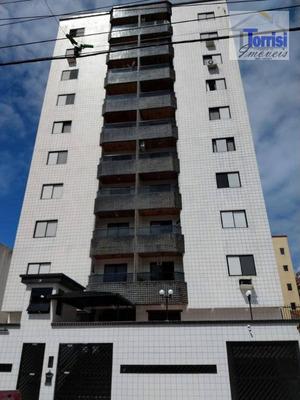Apartamento Em Praia Grande, 01 Dormitório, Sala Com Sacada. Prédio Com Portaria 24horas, Salão De Jogos Na Tupi Ap1848 - Ap1848