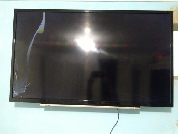 Tv Semp Toshiba 40 Polegadas Com Display Trincado.