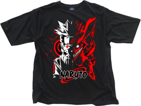 Camiseta Naruto Uzumaki Shippuden Kurama Kit 3 Camisas Blusa