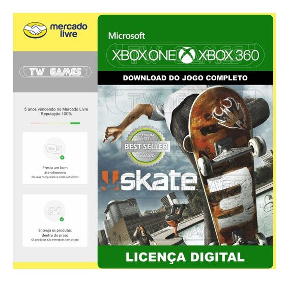 Skate 3 Digital Retrocompativel Xbox One Xbox 360 Digital